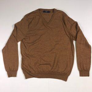 J•CREW 100% mering wool men's large v neck sweater